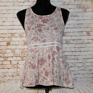 American Eagle Outfitters Floral Tank Top Size M